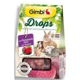 Snack per Roditori Gimbi Drops Barbabietola 50Gr