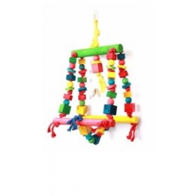 Gioco Per Pappagalli Parrot Toy Double Swing 44Cm