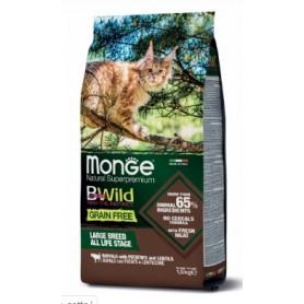 Monge Bwild Grain Free Cat Adult Bufalo lenticchie e Patate 1,5Kg
