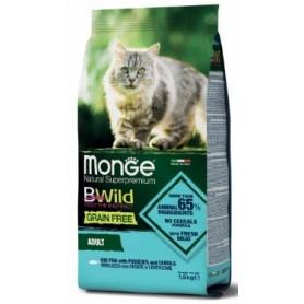 Monge Bwild Grain Free Cat Adult Merluzzo Patate e Lenticchie 1,5Kg