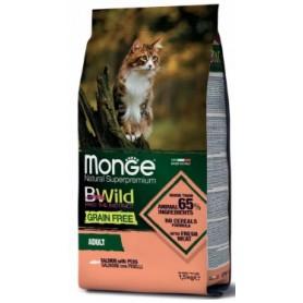 Monge Bwild Grain Free Cat Adult Salmone e Piselli 1,5Kg