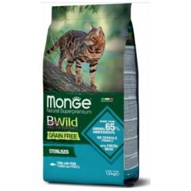 Monge Bwild Grain Free Cat Sterilised Tonno con Piselli 1,5Kg