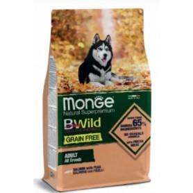 Monge BWild Grain Free Dog Adult All Breeds Salmone e Piselli 12kg