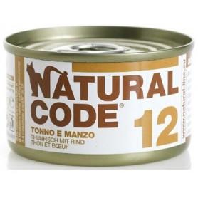 Natural Code 12 Tonno e Manzo 85Gr