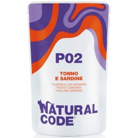 Natural Code P02  Bustine Gatto Tonno e sardine 70Gr