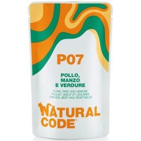 Natural Code P07 Bustine Gatto Pollo  Manzo e Verdure 70Gr