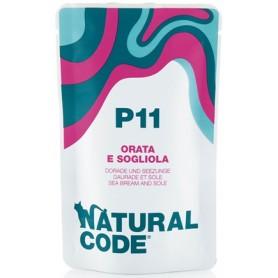 Natural Code P11 Bustine Gatto Orata e Sogliola 70Gr