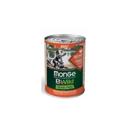 Monge BWild Grain Free Bocconi in Salsa Tacchino Zucca e zucchine 400Gr