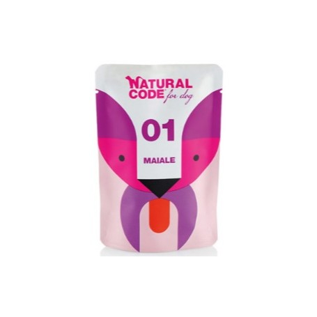 Natural Code Bustine Cane 01 Monoproteio Maiale 100gr