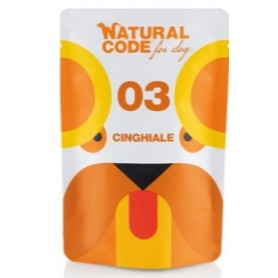 Natural Code Bustine Cane 03 Monoproteico Cinghliale 100Gr
