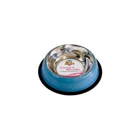 Ciotola Acciaio Color Azzurra  0,47 L / Cm. 20