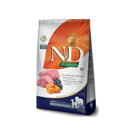 Farmina N&D Grain Free Zucca Agnello e Mirtilli Adult Medium Maxi 12Kg