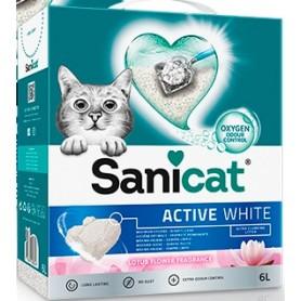 Sanicat Lettiera Agglomerante Active White Fiori di loto 6Lt
