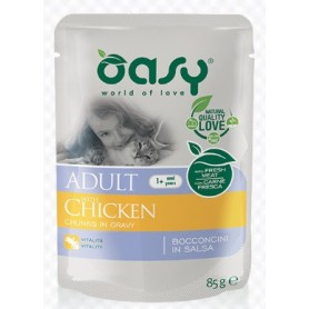 Oasy Wet Cat Bocconcini Adult Pollo Bustina 85Gr