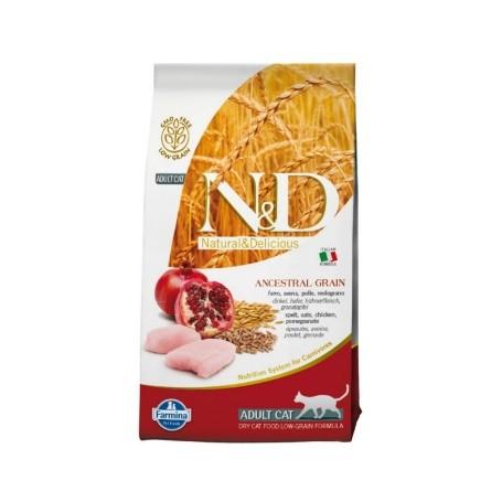 Farmina N&D Low Grain Cat Adult Pollo e melograno 300Gr