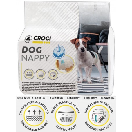 Croci Pannolini per Cani Dog Nappy XL Pz.10