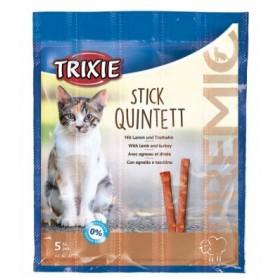 Snack Gatto Stick Quintett Agnello e Tacchino 5pz