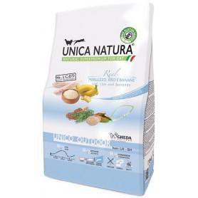 Unica Natura Gatto Unico Outdoor Merluzzo, riso e banane350g