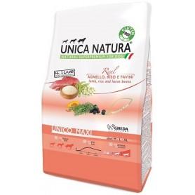 Unica Natura Unico Maxi Agnello, riso, favini 12kg