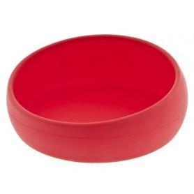 Ciotola Per Bulldog In Silicone 14x6Cm Rossa