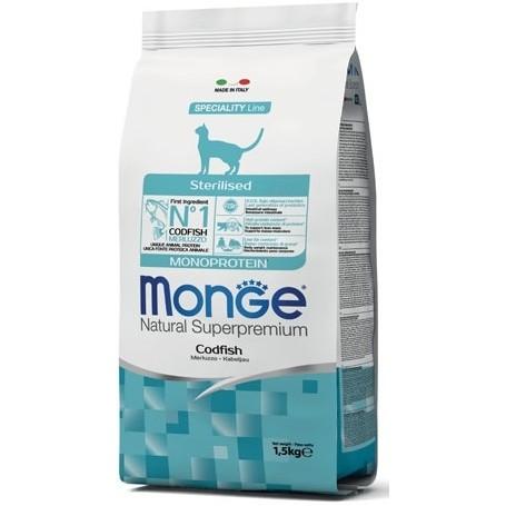 Monge Cat Sterilised Monoprotein Merluzzo 1,5Kg