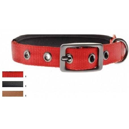Collare Nylon Imbottito 2,5x55Cm Rosso