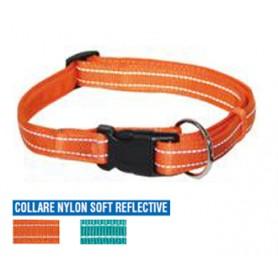 Collare Nylon Soft Reflex 30-45Cm Arancio