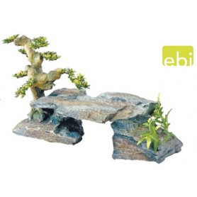 Decorazione Bonsai Su Pietre Large