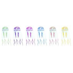 Decorazione Medusa Finta Realistica In Silicone Jelly Fish Colori Assortiti 5Cm X16.5