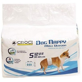 Dog Nappy Pannolini a Fascia per Cani Maschi Sm Pz.12