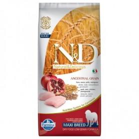Farmina N&D Lowgrain Pollo E Melograno 2,5Kg Adult Medium Maxi