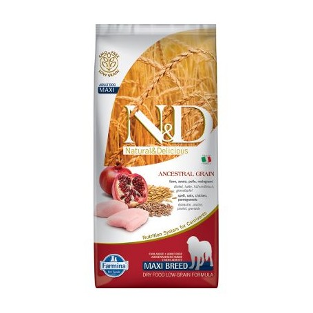 Farmina N&D Lowgrain Pollo E Melograno 2,5Kg Adult Medium Maxi