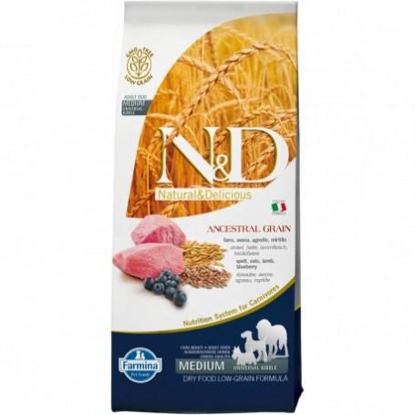 Farmina N&D Lowgrain Agnello E Mirtillo Adult Medium Maxi 12Kg