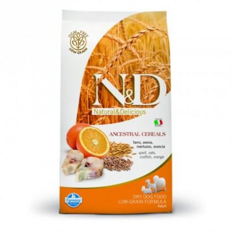 Farmina N&D Lowgrain Merluzzo E Arancia 2,5Kg Adult