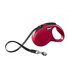 Flexi New Classic Fettuccia Tg.S 5Mt Rosso